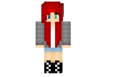 майнкрафт скины для девушек с красными волосами #9