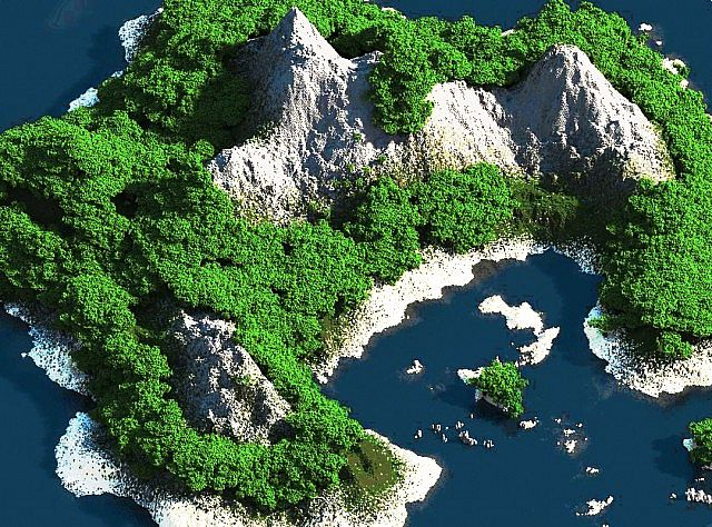 Tropical Island Map 1 Minecraft